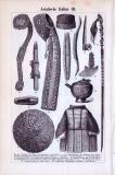Asiatische Kultur II. - III. ca. 1893 Original der Zeit