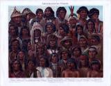 Die Chromolithograhpie von 1893 zeigt Menschen verschiedener amerikanischer Völker.