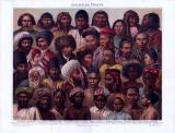 Die Chromolithograhpie von 1893 zeigt Menschen...