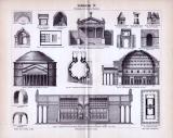 Etruskische und Römische Baukunst der Antike in einem...