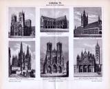 Der Stich von 1893 zeigt religiöse und öffentliche...