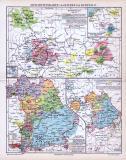 Farbige Geschichtskarten von Bayern und der Kurpfalz von...