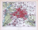 Historische Landkarte von Berlin und Umgebung aus 1893. Im Maßstab 1 zu 111.000. Höhenangaben in Metern.