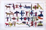 Historische Chromolithographie aus dem Jahre 1893 zum...