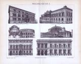 Der Stich aus dem Jahr 1893 zeigt 6 verschiedene Berliner Prachtbauten der Zeit.