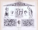 Stich von 1893 mit mehreren Abbildungen Griechischer...