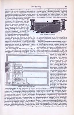 Abhandlung mit Stichen aus dem industriellen Bergbau 1893. Dargestellt werden Verfahren zur Aufbereitung von Kohle aus dem Bergbau.