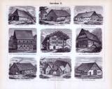 Bauernhaus I. + II. ca. 1893 Original der Zeit