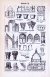 Baustile I. + II. ca. 1893 Original der Zeit
