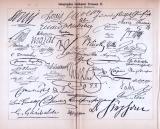 Autographen berühmter Personen I. + II. ca. 1893 Original der Zeit