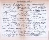 Autographen berühmter Personen III. + IV. ca. 1893 Original der Zeit