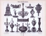 Stich zum Thema Moderne Bronze Kunstindustrie aus 1893....