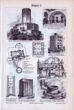 Der Stich aus 1893 zeigt Ansichten von 7 verschiedenen...