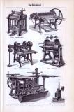 Der Stich aus 1893 zeigt 6 Maschinen die bei der...