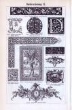 Buchverzierung I. + II. ca. 1893 Original der Zeit