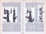 Bohrmaschinen ca. 1893 Original der Zeit
