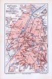 Lithographierter farbiger Stadtplan von Brüssel aus dem...