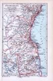 Farbige Lithographie einer Landkarte von Süd-Brasilien...