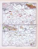 Farbig lithographierte Landkarte der nutzbaren Mineralien...
