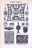 Christliche Altertümer I. + II. ca. 1893 Original der Zeit