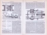 Dampfmaschinen II. ca. 1893 Original der Zeit