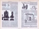 Dampfmaschinen III. ca. 1893 Original der Zeit