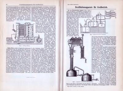 Technische Abhandlung über industrielle Destillationsanlagen aus 1893.