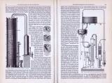 Destillationsapparate für Großbetrieb ca. 1893 Original der Zeit