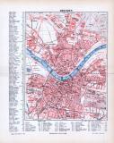 Farbig lithographierter Stadtplan von Dresden aus 1893...