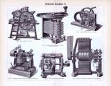 Elektrische MaschinenI. - III. ca. 1893 Original der Zeit