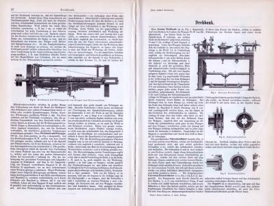 Technische Abhandlung aus 1893 zum Thema Drehbank.