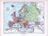 Farbig illustrierte politische Übersichtskarte von Europa...