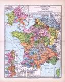 Farbig illustrierte politisch historische Landkarte...
