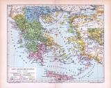 Farbig illustrierte Landkarte zeigt die Verteilung der...