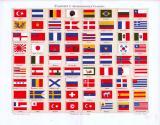 Chromolithographie aus 1893 mit 72 Flaggen von...