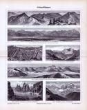 Stich aus 1893 aus dem Bereich der Geologie zeigt...