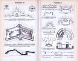 Stich aus dem Jahr 1893 zum Thema Festungsbau,...