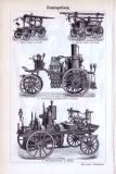 Feuerschutz + Feuerspritzen ca. 1893 Original der Zeit