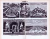Gartenkunst I. - III. ca. 1893 Original der Zeit