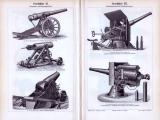 Geschütze I. - IV. ca. 1893 Original der Zeit