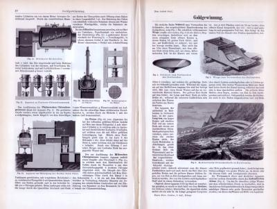 Technische Abhandlung aus 1893 zum Thema Goldgewinnung.