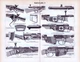 Handfeuerwaffen I. - III. ca. 1893 Original der Zeit