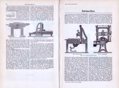 Technische Abhandlung aus 1893 mit Illustrationen zum Thema Hobelmaschinen.