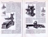 Hobelmaschinen ca. 1893 Original der Zeit
