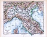Farbige Illustration einer Landkarte aus 1893 der...