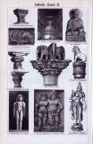 Indische Kunst I. + II. ca. 1893 Original der Zeit