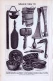 Indianische Kultur II. + III. ca. 1893 Original der Zeit