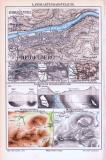 Farbig illustrierte Landkarten zu verschiedenen...