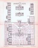 Stich aus 1893 zeigt den architektonischen Aufbau des...