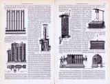 Leuchtgasbereitung ca. 1893 Original der Zeit